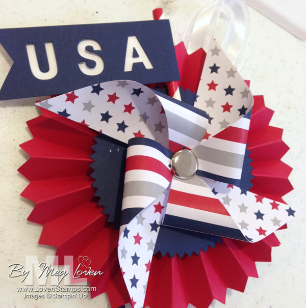 Designer Rosette for the 4th of July by LovenStamps (with help from Paper Pumpkin)