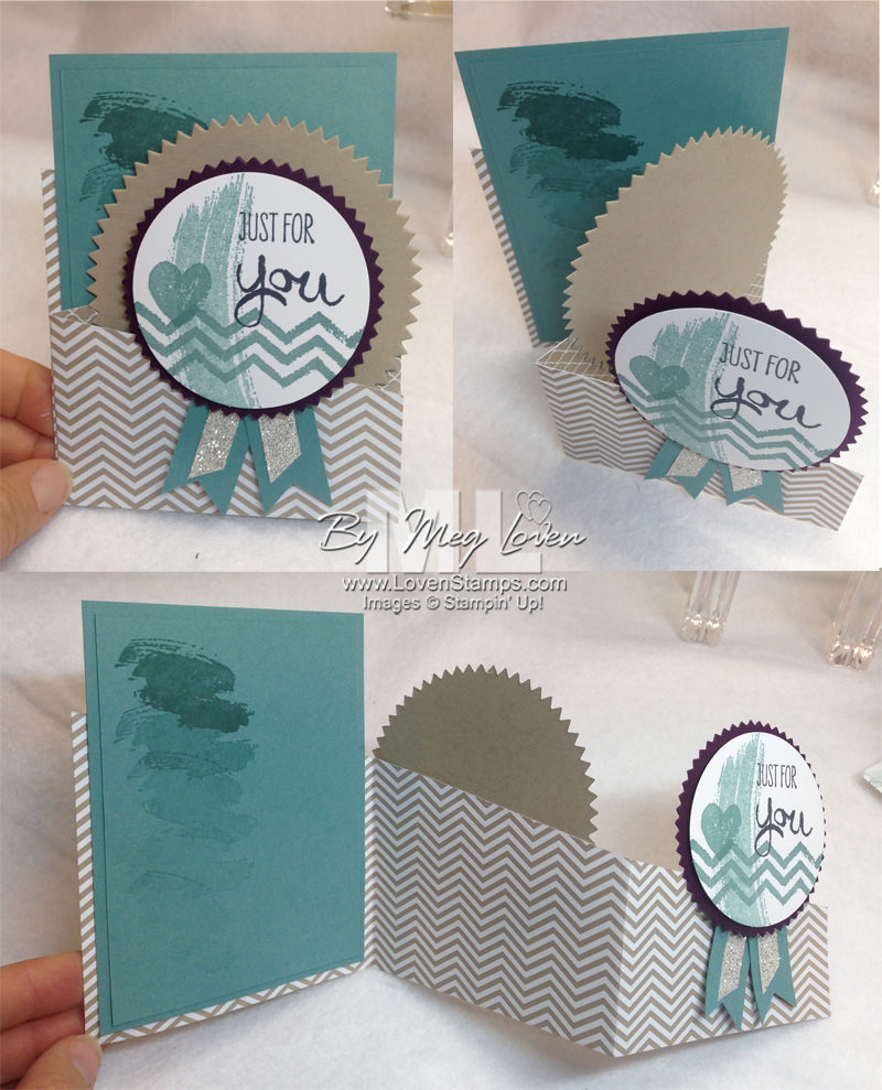 Zig Zag Panel Card Idea - try a new fold on your next card! Includes video tutorial from LovenStamps