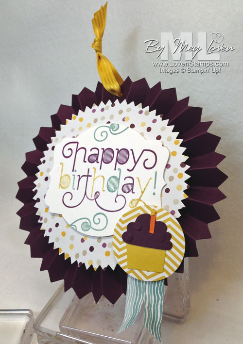 2 in 1 Birthday Treat: Age Awareness Happy Birthday Tag with the Designer Rosette Die (A Video Tutorial) by LovenStamps