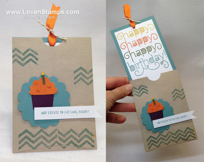 Triple The Happy Birthday Card Perfect Pockets Lovenstamps