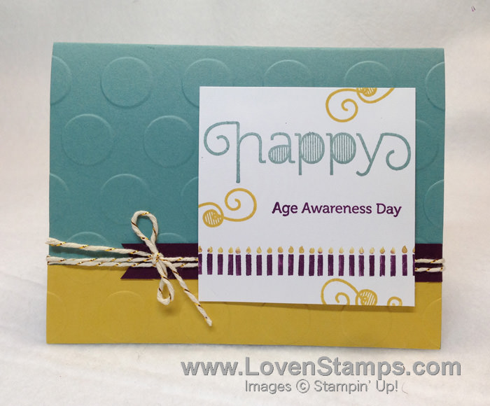 Polka Time!  Happy Age Awareness Day card by LovenStamps for Stamps in the Mail Club with Meg