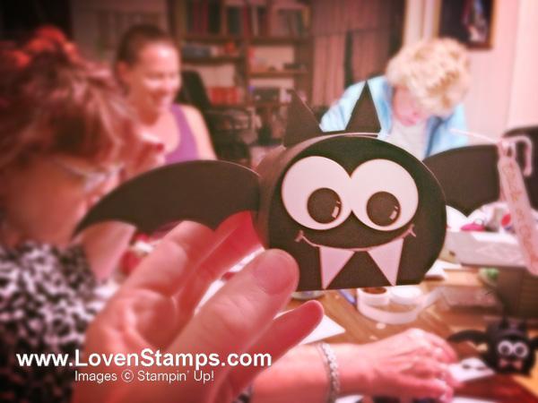 Halloween Bat Box: the Curvy Keepsakes Die is so adaptable! Bat & fun by LovenStamps