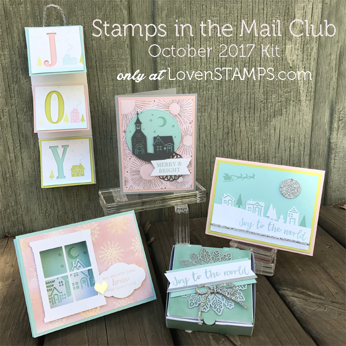 LovenStamps: Hearts Come Home and the Hometown Greetings for Stamps in the Mail Club, available only at LovenStamps