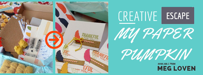 A Creative Escape: My Paper Pumpkin from Meg Loven at LovenStamps