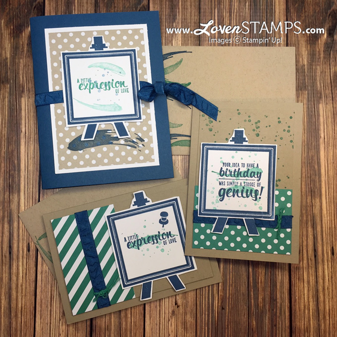 LovenStamps: Painter's Palette Card Portfolio Project - included with June Stamps in the Mail Club kits