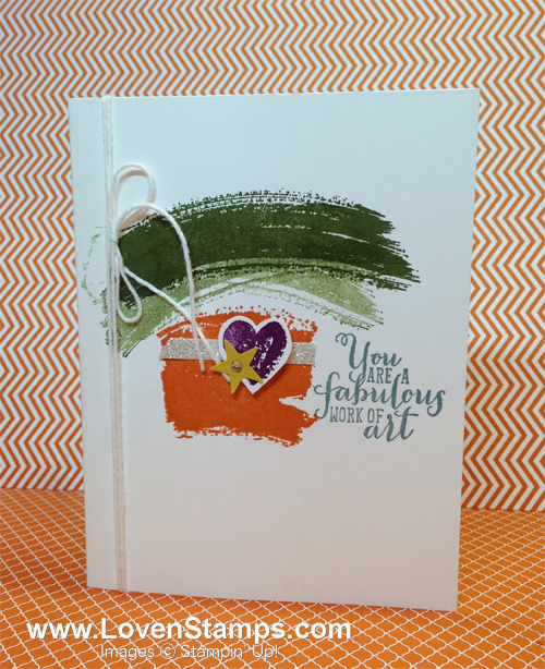 Stampin' Up! Work of Art: a Clean & Simple (CAS) card idea from LovenStamps