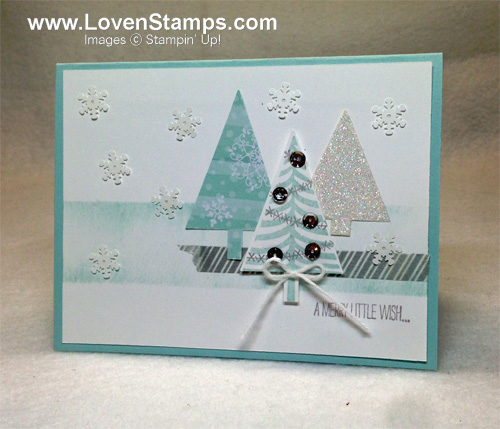 Stampin Up Festival of Trees: a Faux Layering Technique Tutorial by LovenStamps for Stamps in the Mail Club