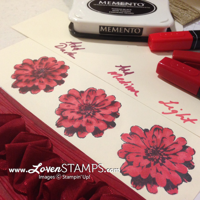 Blendabilities Markers Tutorial: My favorite way to color is from light to dark.  Visit LovenStamps for the video.
