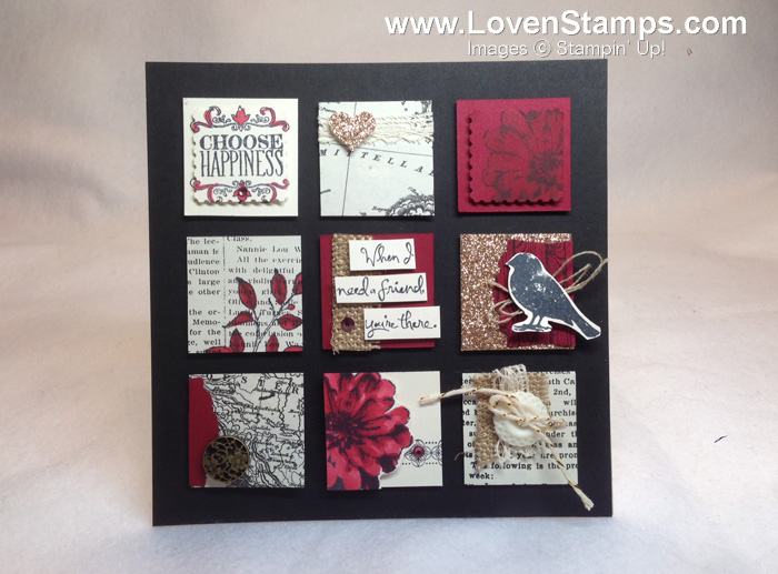 Choose Happiness: Upcycled Art Decor Frame Project with chipboard and the Choose Happiness stamp set - project video tutorial shared by LovenStamps