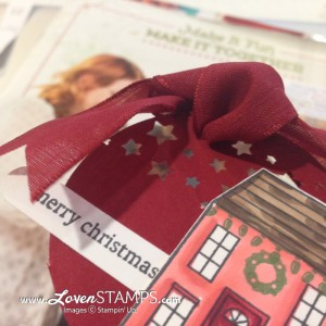 Confetti Stars Punch: Perfect for Christmas gift tags, idea from LovenStamps