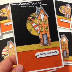 Holiday Home and the Homemade Holiday Framelits for Halloween (with Blendabilities Markers), project by LovenStamps