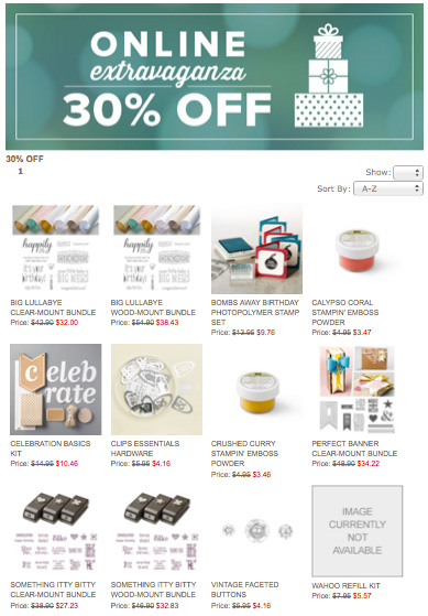 online-extravaganza-stampin-up-30-off
