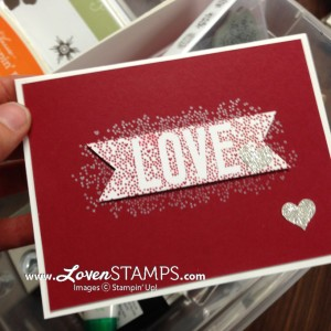 Seasonally Scattered: anniversary card idea by LovenStamps