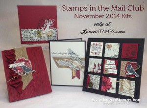 Stamps in the Mail Club: November 2014 kits featuring the Blendabilities Markers Tutorials from LovenStamps