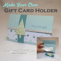 Make Your Gift Cards Cute: Festival of Trees Gift Card Holder