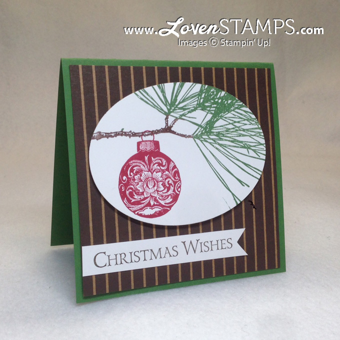 Ornamental Pin Card Idea: Simple Christmas - go for elegant and understated, card by LovenStamps