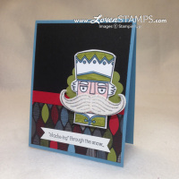 Santa Stache Christmas Card Idea: nutcracker card idea by LovenStamps, stamps by Stampin' Up!
