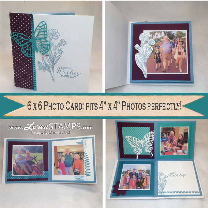 Butterfly Basics Folding Card Photo Book: Stamps in the Mail Club project by LovenStamps