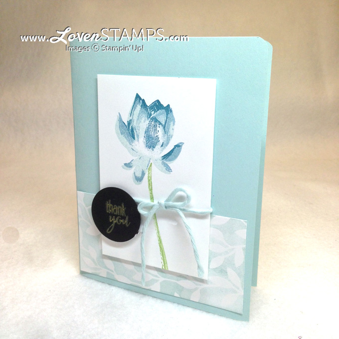 Lotus Blossom - Three Step Stamping Made Simple, with Stampin' Up! color combination ideas by LovenStamps
