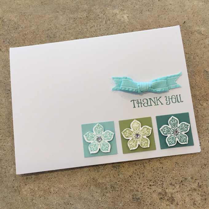 Petite Petals and the matching Petite Petals Punch - a Clean & Simple DIY thank you note that's easy to make yourself