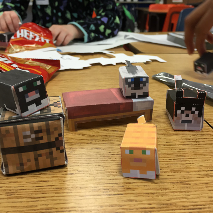 Minecraft Papercrafting DIY Tool Tips from LovenStamps