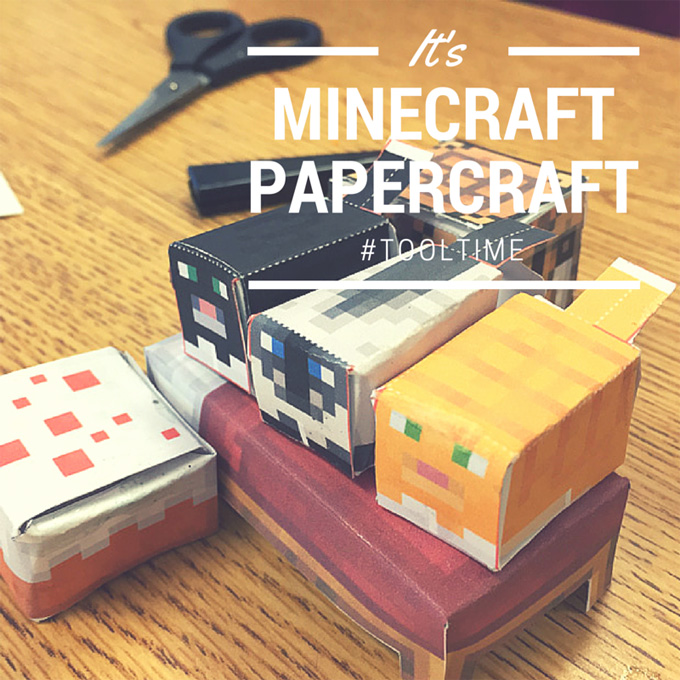 Minecraft Papercrafting Tool Time Tips from LovenStamps