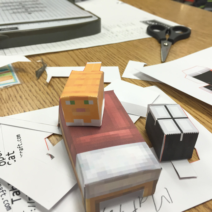 Minecraft Papercrafting: much easier with the right tools - suggestions from LovenStamps