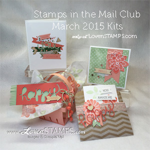 Crazy About You:  Stamps in the Mail Club projects, kits available now exclusively at LovenStamps