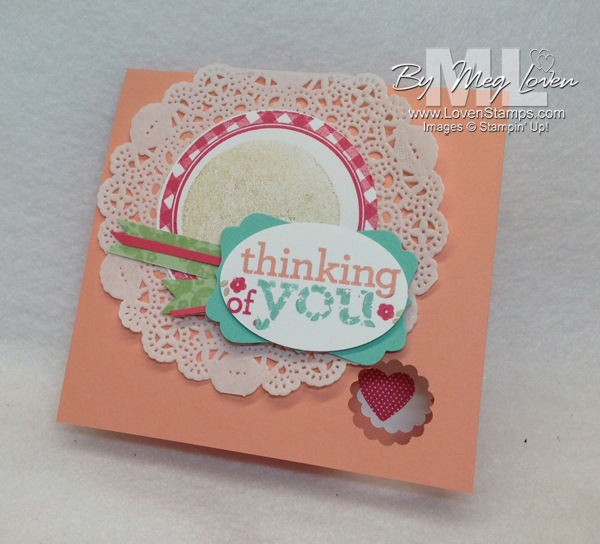 Kind & Cozy doily card idea from LovenStamps