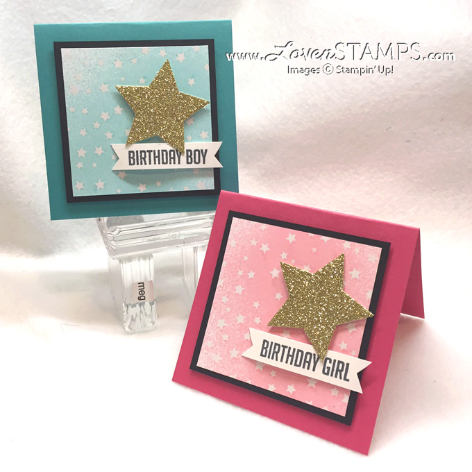 Hooray It's Your Day stamp set from Stampin' Up - the perfect birthday card idea for teens and divas - from LovenStamps
