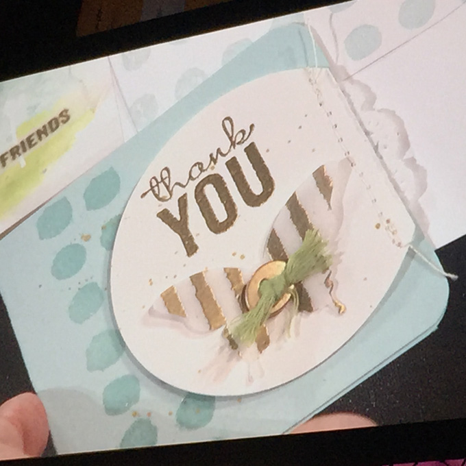Painted Petals stamp set - shared by Shelli Gardner at the Stampin' Up leadership conference 2015