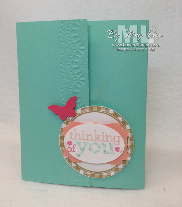 Kind & Cozy with the Delicate Designs Border embossing folder (all from Stampin' Up!) projects by LovenStamps