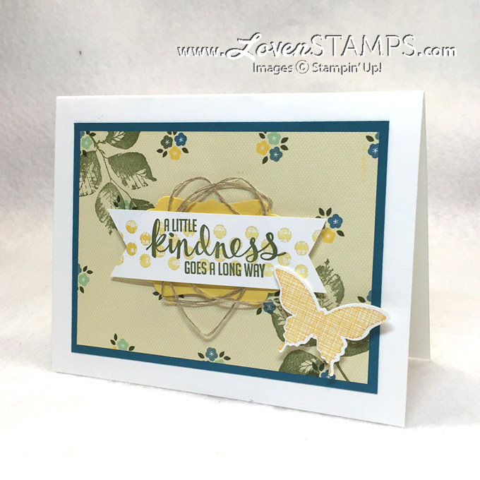 Use your scrapbook paper for card backgrounds - Kinda Eclectic stamp set from #stampinup with project and video tutorial by LovenStamps for Stamps in the Mail Club with Meg