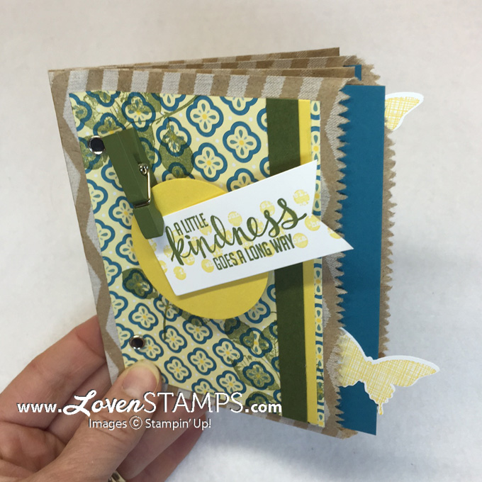 Looking for a fun card idea? Make a Paper Bag Pocket Card! (aka Paper Bag Books) - perfect for photos, lots of signatures, etc - Stamps in the Mail Club Video Tutorial from LovenStamps