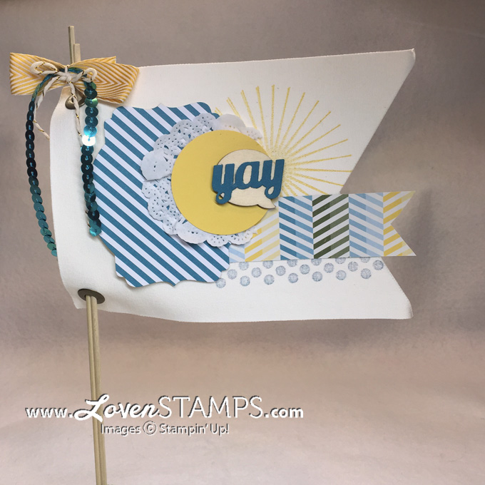 Make Your Own Pennant Banner - using the Simply Created Build A Banner Kit from Stampin Up, project kit by LovenStamps