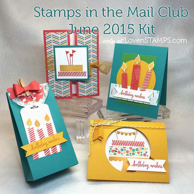Build a Birthday stamp set from Stampin' Up!, card kit available from LovenStamps for Stamps in the Mail Club with Meg