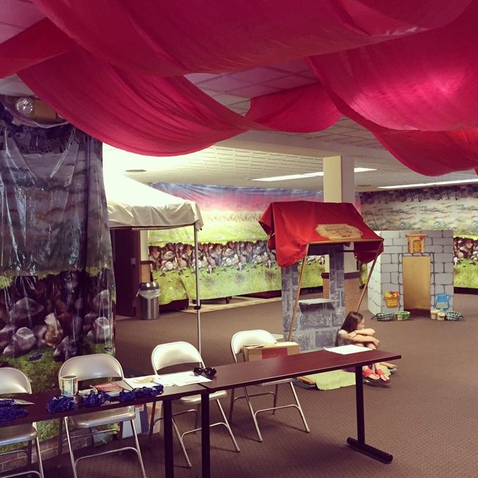 Decorating ideas for Hometown Nazareth VBS #hometownnazareth at LovenStamps