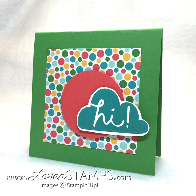 Sweet & Simple (CAS - Clean and Simple) Cards - with I Think You're Great and Cherry on Top Paper from Stampin' Up, design by LovenStamps