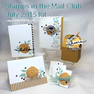 Bountiful Border Stamps in the Mail Club kit - request yours at LovenStamps, all supplies Stampin' Up!