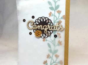 How many fun new Stampin Up accessories can be used on one Bountiful Border card?  Project by LovenStamps with video tutorial