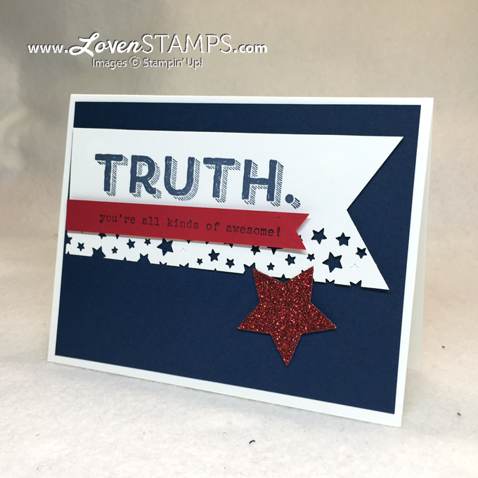 Words of Truth and the Confetti Star Punch from Stampin' Up, project by LovenStamps