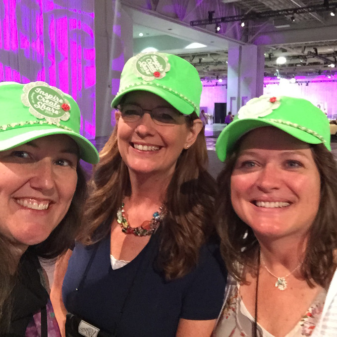 convention-green-hat-group-selfie-lovenstamps