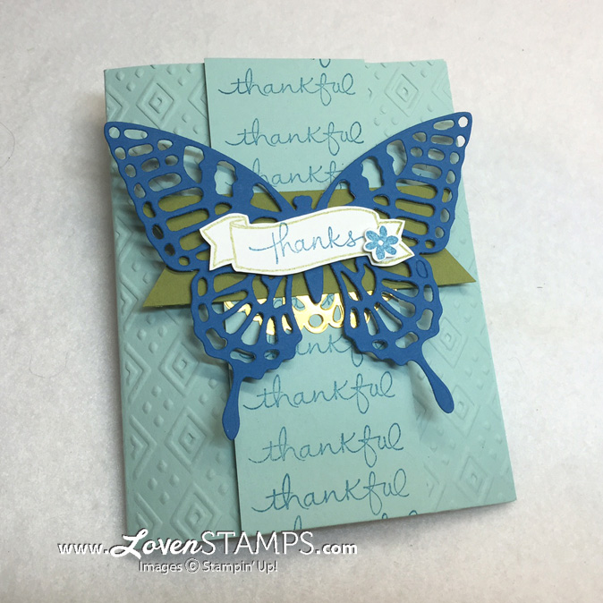 Stampin Up Endless Wishes - with Butterflies Thinlits for Stamps in the Mail Club by LovenStamps