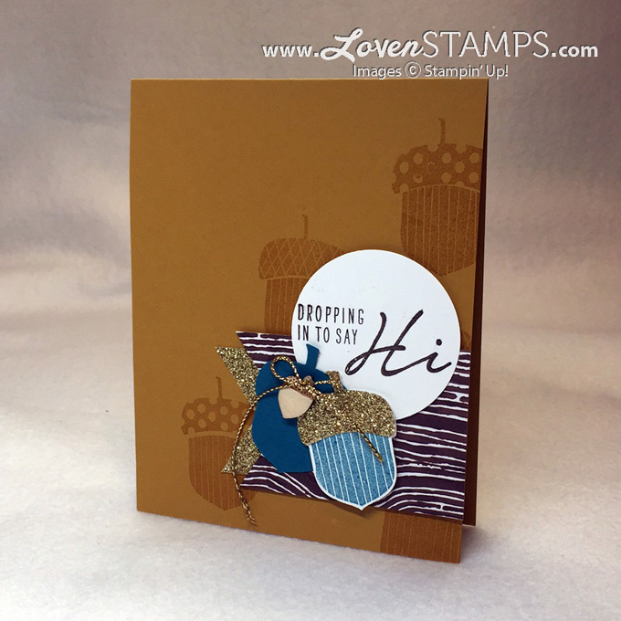 Acorny Thank You - supplies Stampin' Up! - catalog idea with alternate colors, project by LovenStamps