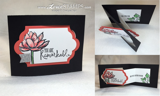 Remarkable You Tutorial - How to Make a Z-Fold Card, by LovenStamps