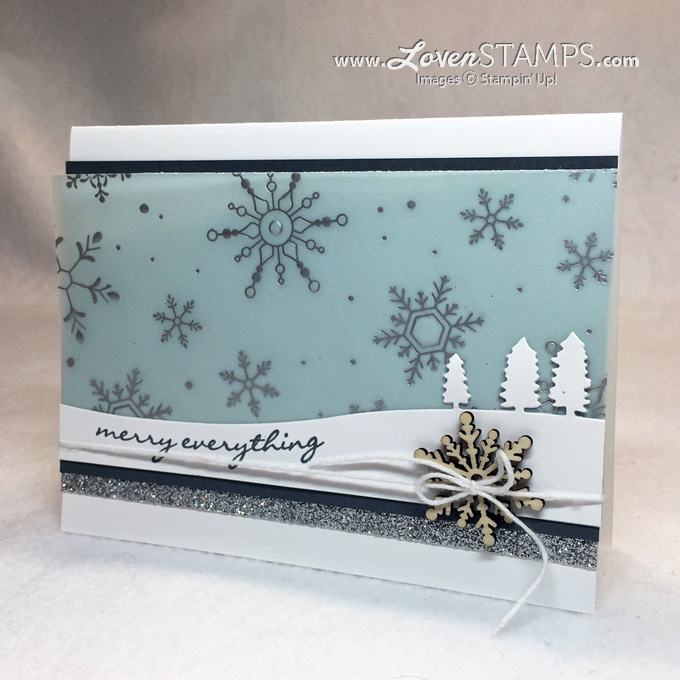 Jingle All The Way and the Sleigh Ride Edgelits Dies - with Holiday Fancy Foil Designer Vellum by LovenStamps for Stamps in the Mail Club