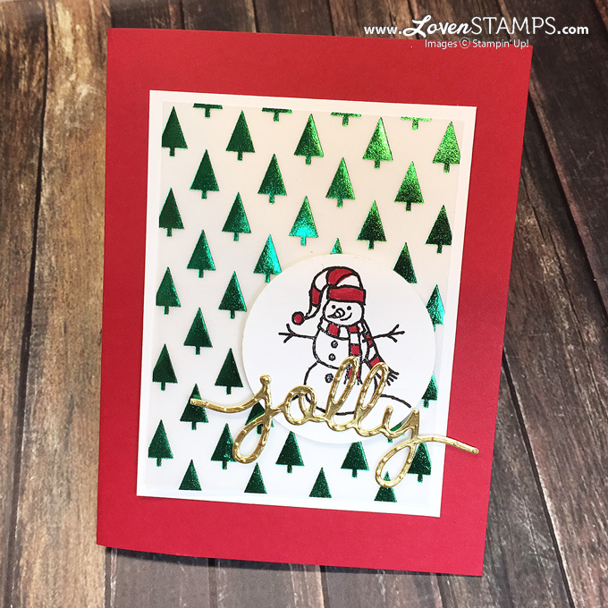 Sparkly Seasons and Christmas Greetings - a Christmas card idea by LovenStamps (all supplies Stampin' Up!)