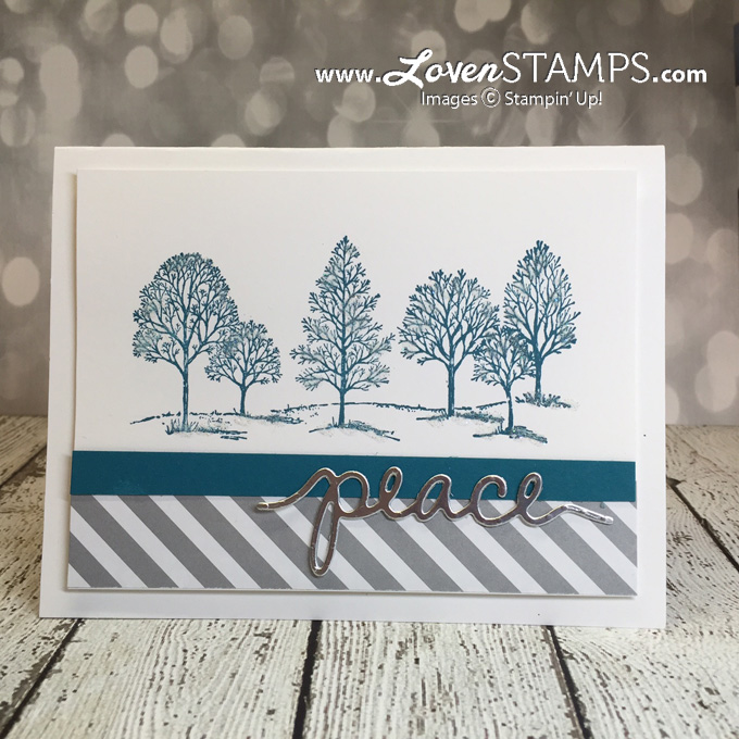 Lovely As A Tree - Christmas card tutorial by LovenStamps