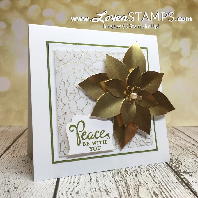 LovenStamps: Festive Flower Builder Punch with Gold Foil Sheets - for Stamps in the Mail Club with Meg, all supplies Stampin' Up!