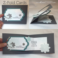 Z-Fold Cards: Flurry of Wishes